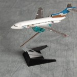 Air West 727 Brown Blue